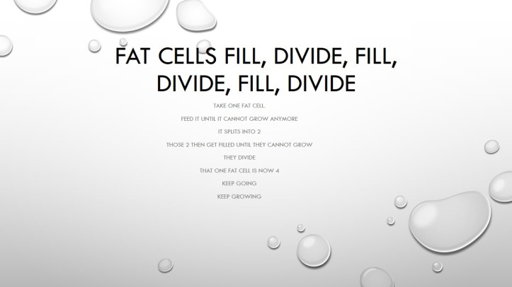 Fat cells fill, divide, fill,