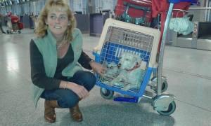 simone at airport
